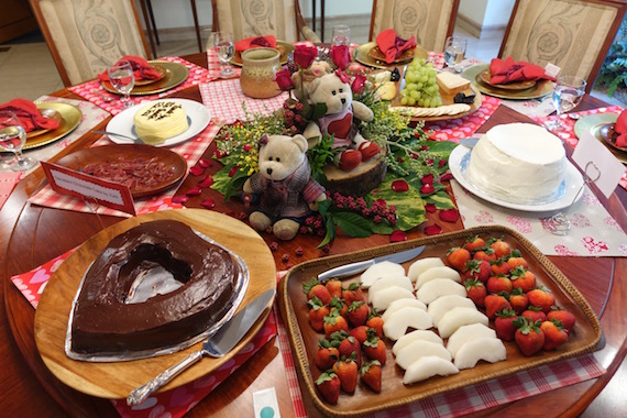 Valentines lunch Dessert table