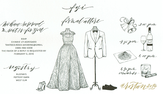MJ and isa invitation attire events