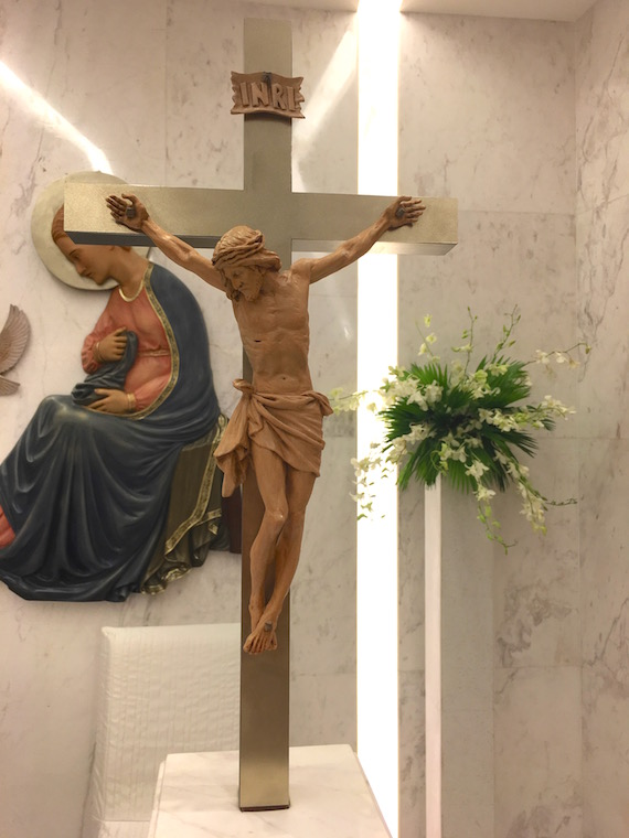 crucifix at the chapel of the annunciation discovery primea