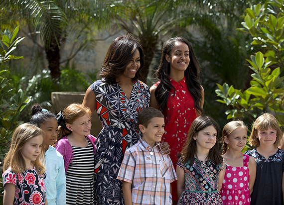 Michelle and Sasha Obama wear Tory Burch in Cuba