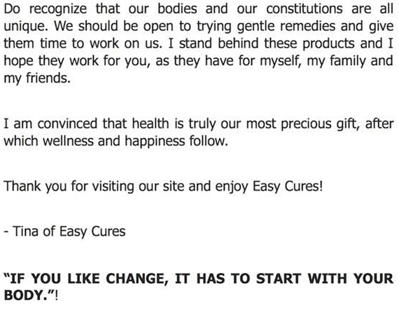 Easy Cures (5)