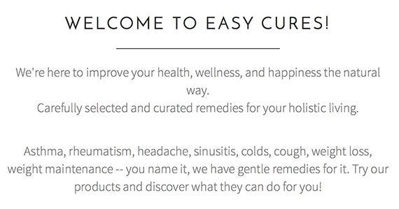 Easy Cures (6)