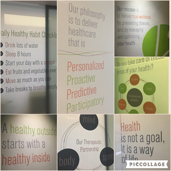 Life Science signs on walls