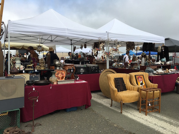 Shopping for Chairs at the Alameda Pointe Antique Faire (1)