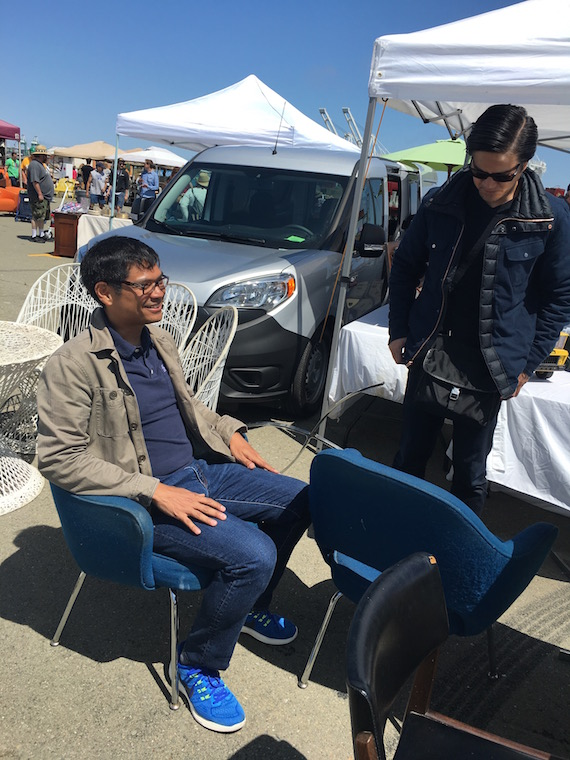 Shopping for Chairs at the Alameda Pointe Antique Faire (10)