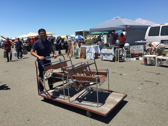Shopping for Chairs at the Alameda Pointe Antique Faire (15)