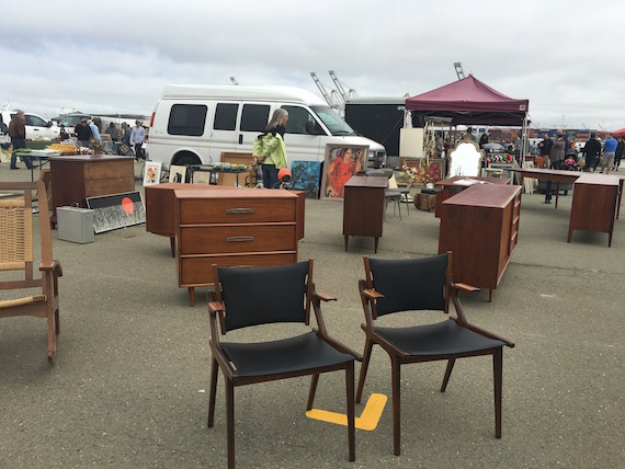 Shopping for Chairs at the Alameda Pointe Antique Faire (5)