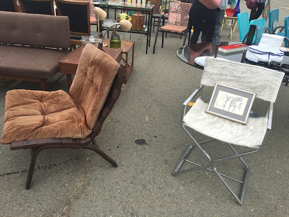 Shopping for Chairs at the Alameda Pointe Antique Faire (7)