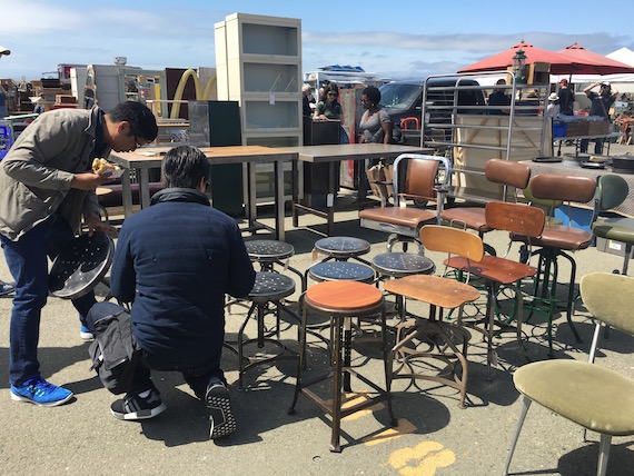 Shopping for Chairs at the Alameda Pointe Antique Faire (9)