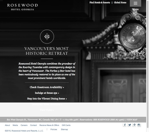 Rosewood Hotel Georgia, the most sought-after and legendary luxury Vancouver hotels, blends an unmatched combination of legacy and luxury. Hotels in Vancouver BC, Vancouver B C Hotels
