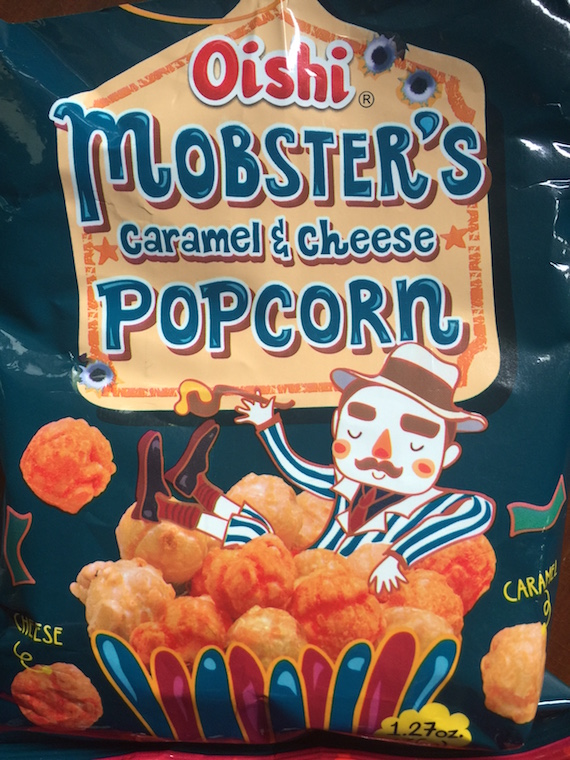 Oishi Mobsters Caramel and Cheese popcorn 2