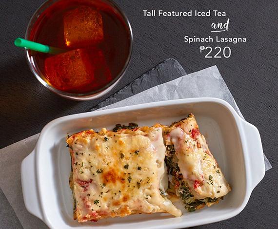 Starbucks Signature Pairings DayPart-Spinach Lasagna