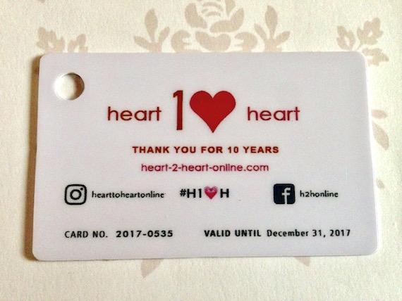 H10H card anniversary heart2Heart
