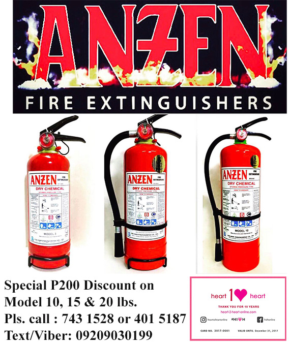 H2H Card ANZEN fire extinguishers