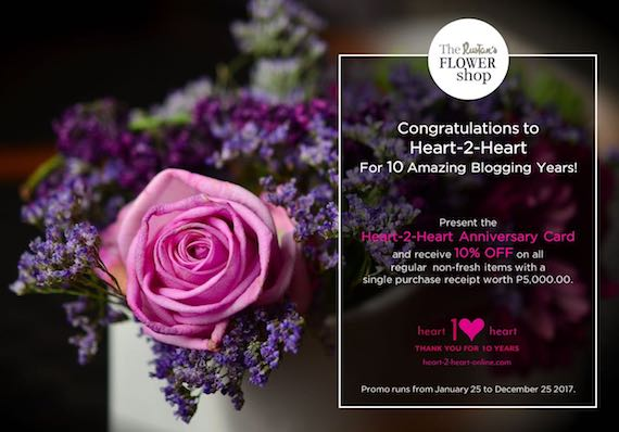 H2H card Rustans Flower Shop