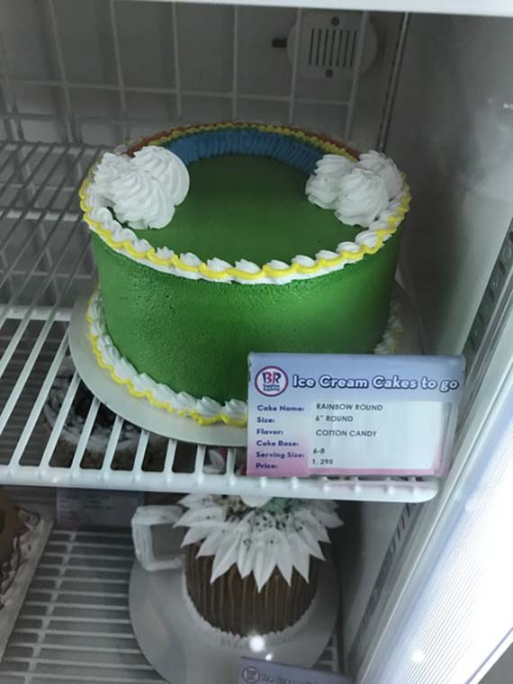 Ice cream cake at Baskin Robbins (2)