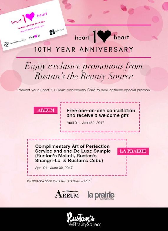 Rustans beauty source April to June 2017 h2hcard