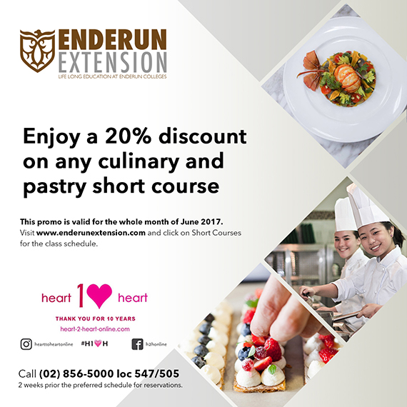 heart to heart discount - Enderun Extension June