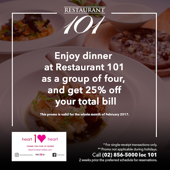 heart to heart discount - Resto 101 February (2)