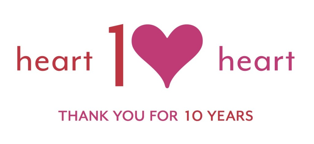heart2heart 10 years logo