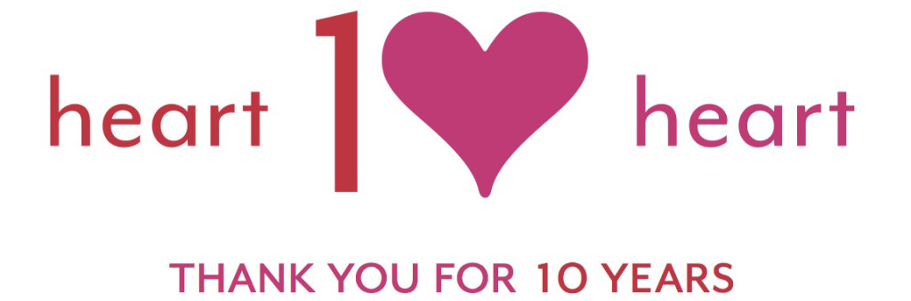 heart2heart 10 years logo