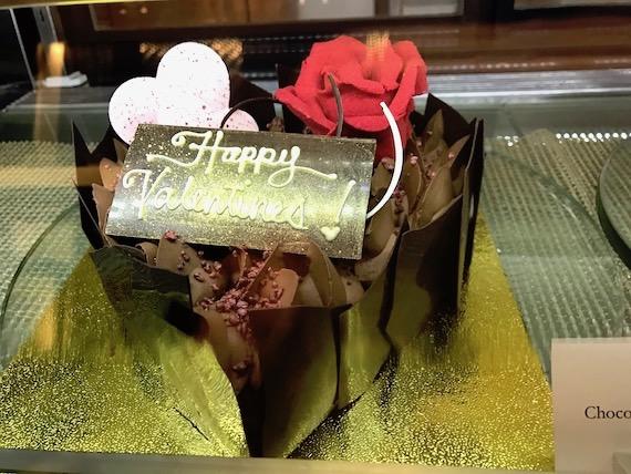 Cafe macaron cakes Fairmont makati valentine hazelnut