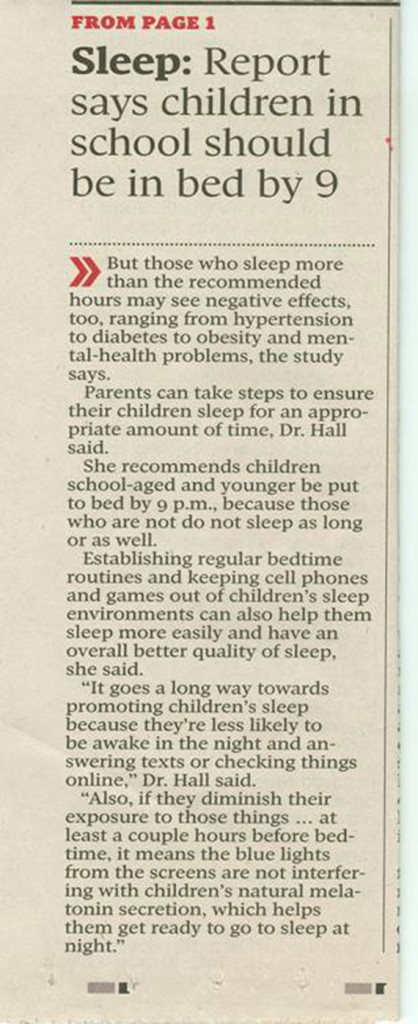 Experts Reveal The Risks for Children with Lack of Sleep (1)