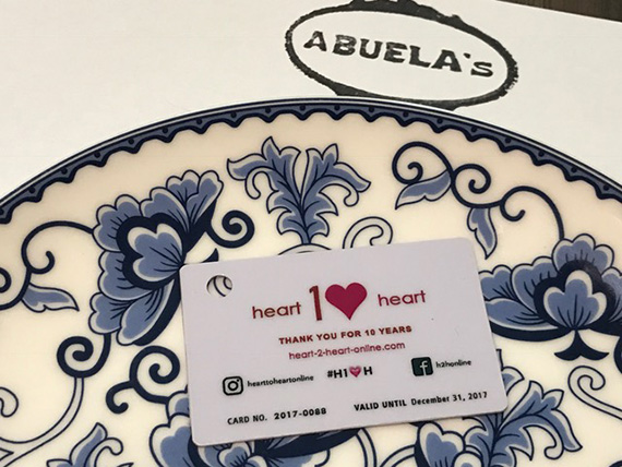 Using our H2HCard at Abuela's (7)