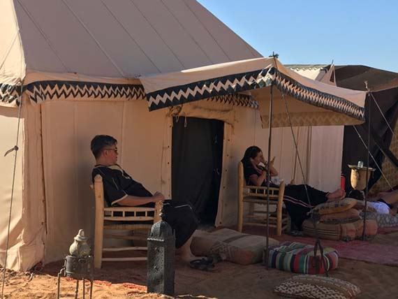 Relaxing at the Desert Camp (1)