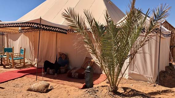 Relaxing at the Desert Camp (2)