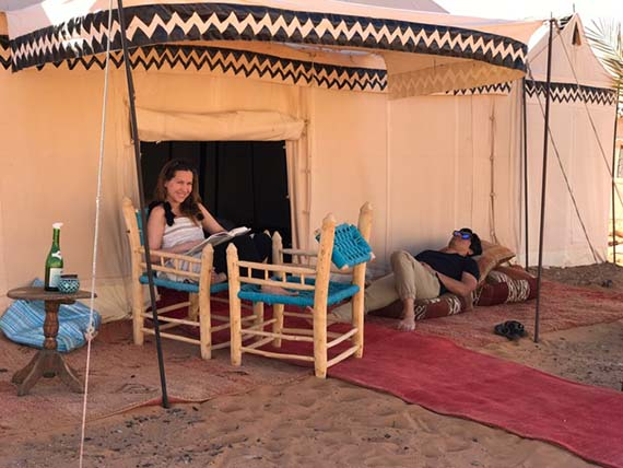 Relaxing at the Desert Camp (22)