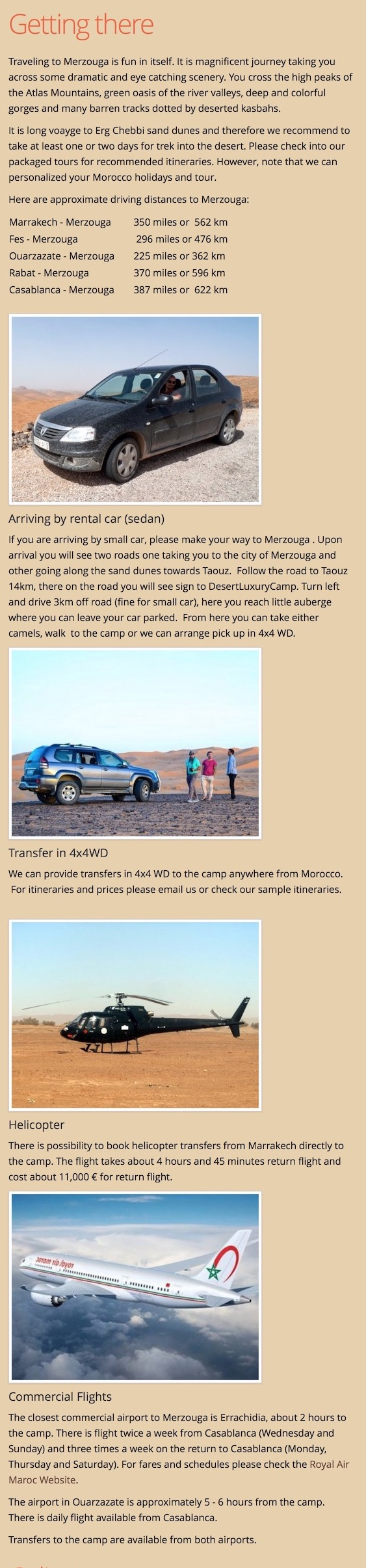 Erg Chebbi useful info transportation options desert