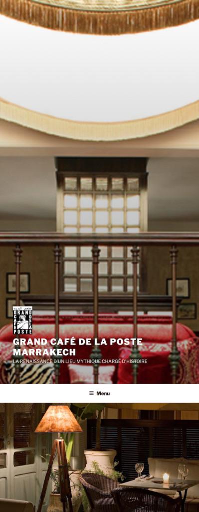 Grand café de la poste restaurant à Marrakech : véritable institution depuis les années 20, chargé de l'histoire de la ville rouge ré ouvre ses portes.