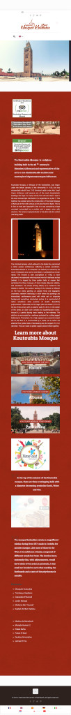 The Koutoubia Mosque is a religious building built in the xii th century in Marrakech (Morocco) and representative of the art is a true Almohades.