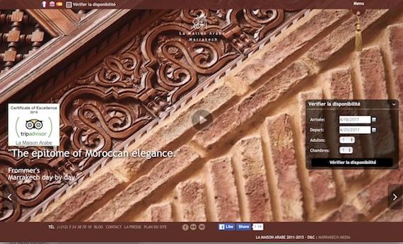 La Maison Arabe website