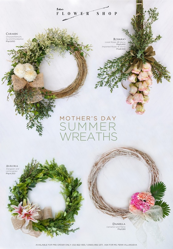 Mothers day summer wreaths rustan flower shop