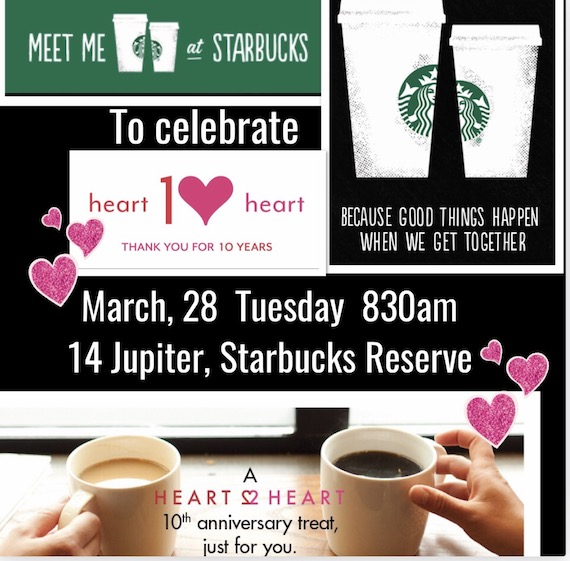 meet me at starbucks H10H invitation