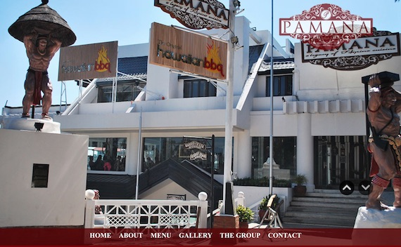 Pamana restaurant website
