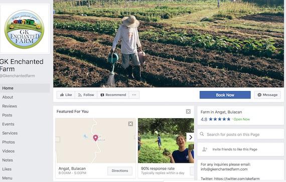 GK Enchanted Farm facebook page