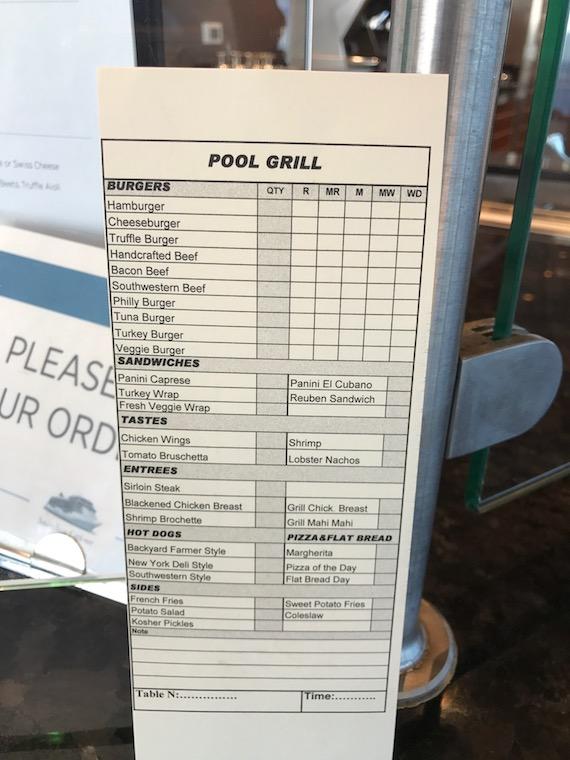 pool grill seven seas explorer regent