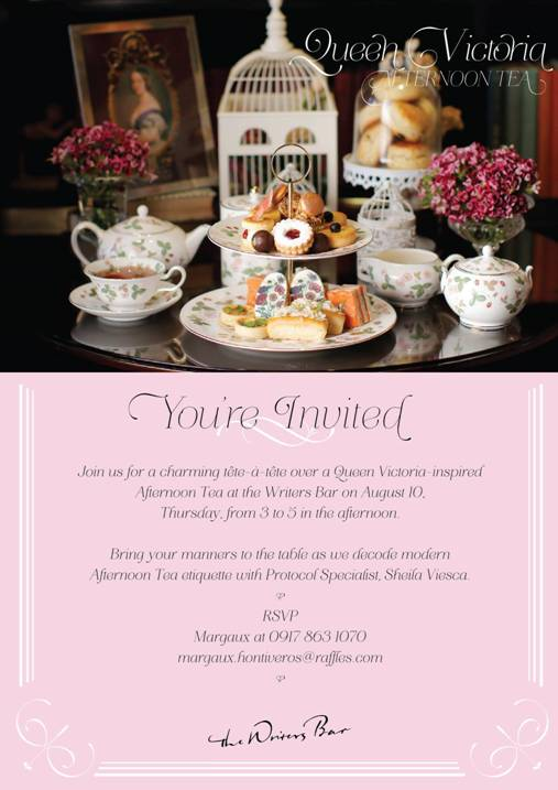 Raffles Makati Launches the Second in the Royal Afternoon Tea Series Featuring Queen Victoria