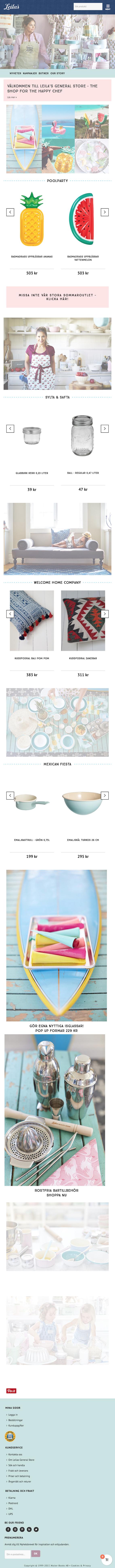 Välkommen till Leila's General Store - Unikt och färgstarkt sortiment med Leilas utvalda och designade produkter av hög kvalité för köket & hemmet .