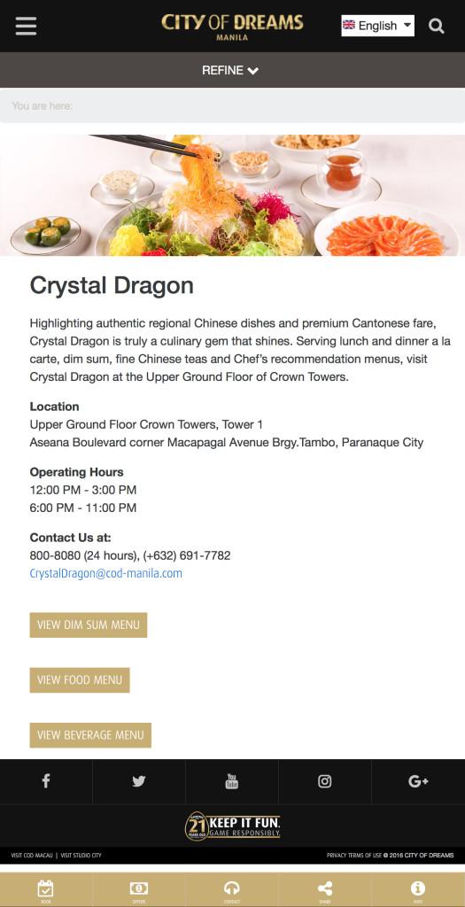 Crystal Dragon | City of Dreams - Manila