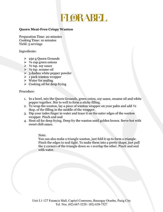 Florabel Quorn Recipes FINAL1