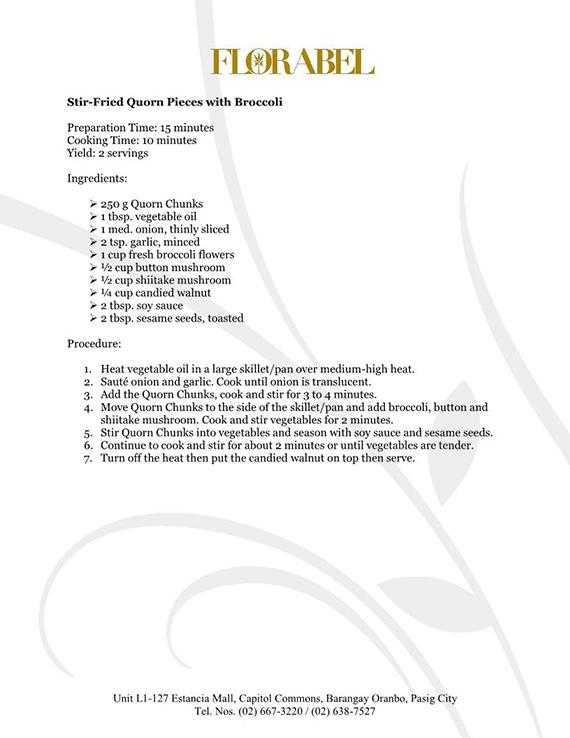 Florabel Quorn Recipes FINAL12