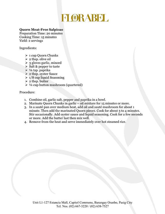 Florabel Quorn Recipes FINAL13