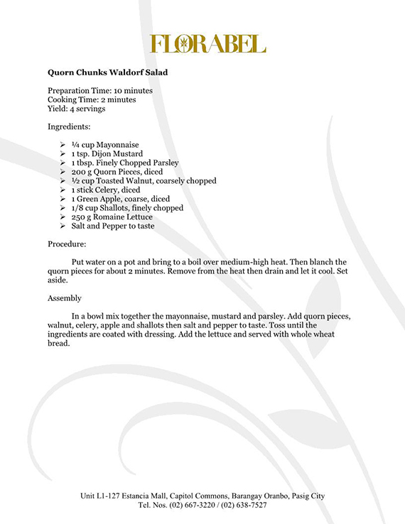 Florabel Quorn Recipes FINAL17