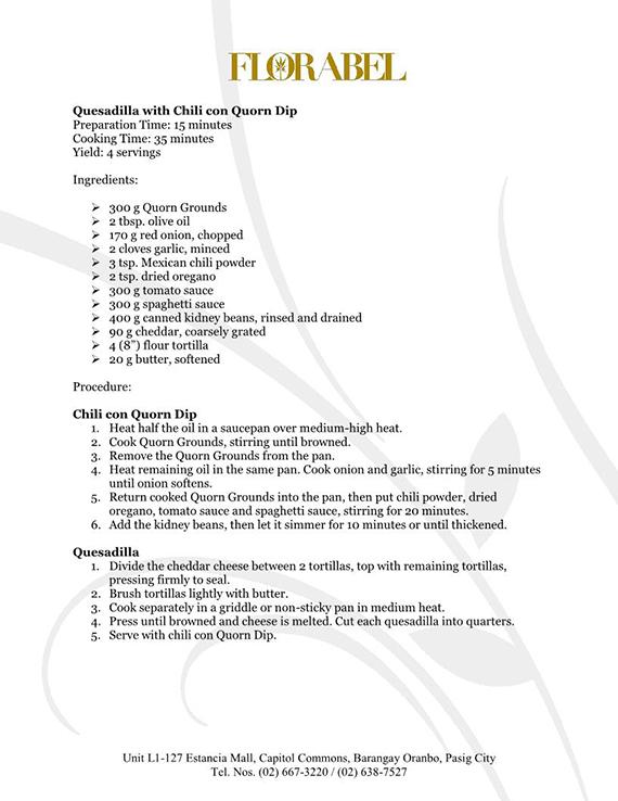 Florabel Quorn Recipes FINAL2