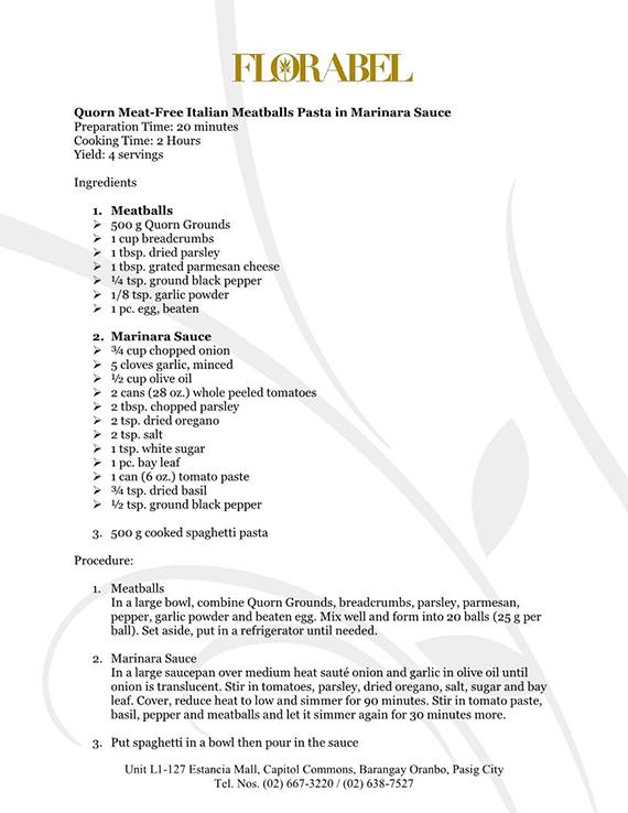 Florabel Quorn Recipes FINAL3