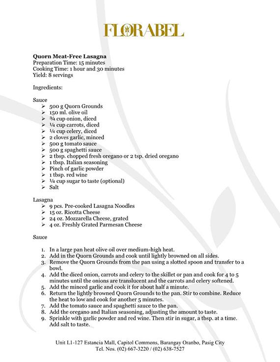 Florabel Quorn Recipes FINAL4